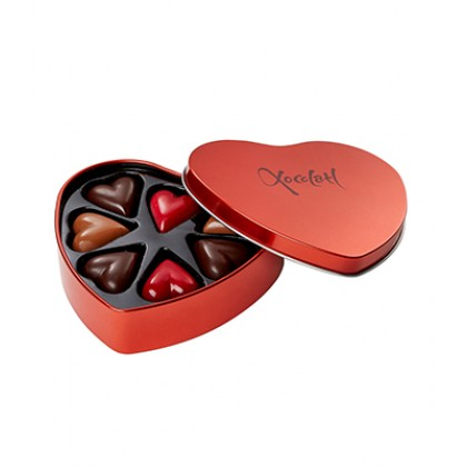 Hjerteformet chokoladeæske